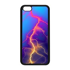 Lightning Colors, Blue Sky, Pink Orange Yellow Apple Iphone 5c Seamless Case (black) by picsaspassion