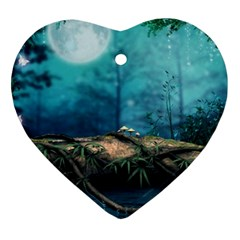 Mysterious Fantasy Nature  Ornament (heart)  by Brittlevirginclothing