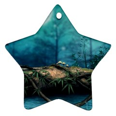 Mysterious Fantasy Nature  Ornament (star)  by Brittlevirginclothing