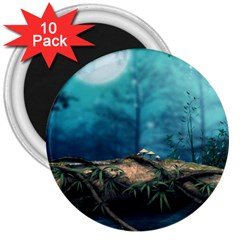 Mysterious Fantasy Nature  3  Magnets (10 Pack)  by Brittlevirginclothing