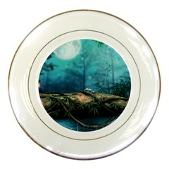Mysterious Fantasy Nature  Porcelain Plates by Brittlevirginclothing