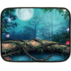 Mysterious Fantasy Nature  Double Sided Fleece Blanket (mini)  by Brittlevirginclothing