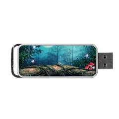 Mysterious Fantasy Nature  Portable Usb Flash (one Side) by Brittlevirginclothing
