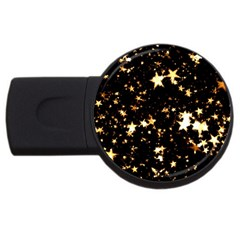 Golden Stars In The Sky Usb Flash Drive Round (2 Gb)  by picsaspassion