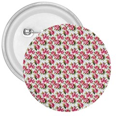 Gorgeous Pink Flower Pattern 3  Buttons by Brittlevirginclothing