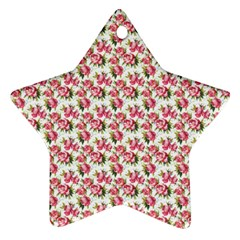 Gorgeous Pink Flower Pattern Ornament (star)  by Brittlevirginclothing