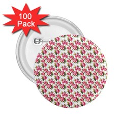 Gorgeous Pink Flower Pattern 2 25  Buttons (100 Pack)  by Brittlevirginclothing