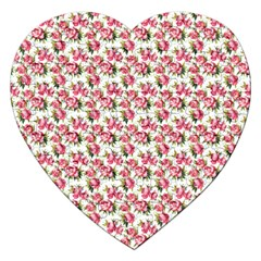 Gorgeous Pink Flower Pattern Jigsaw Puzzle (heart) by Brittlevirginclothing