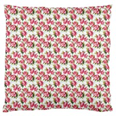 Gorgeous Pink Flower Pattern Large Cushion Case (two Sides) by Brittlevirginclothing
