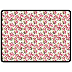 Gorgeous Pink Flower Pattern Double Sided Fleece Blanket (large)  by Brittlevirginclothing