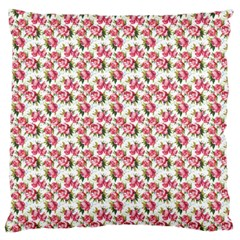Gorgeous Pink Flower Pattern Large Flano Cushion Case (one Side) by Brittlevirginclothing