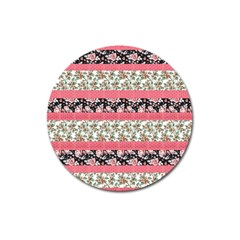 Cute Flower Pattern Magnet 3  (round) by Brittlevirginclothing