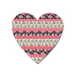Cute Flower Pattern Heart Magnet by Brittlevirginclothing