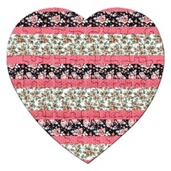 Cute Flower Pattern Jigsaw Puzzle (heart) by Brittlevirginclothing