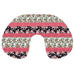 Cute Flower Pattern Travel Neck Pillows by Brittlevirginclothing