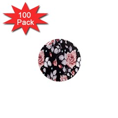 Vintage Flower 1  Mini Magnets (100 Pack)  by Brittlevirginclothing