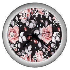 Vintage Flower Wall Clocks (silver)  by Brittlevirginclothing