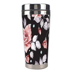 Vintage Flower Stainless Steel Travel Tumblers by Brittlevirginclothing