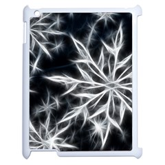 Snowflake In Feather Look, Black And White Apple Ipad 2 Case (white) by picsaspassion
