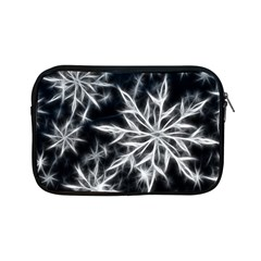 Snowflake In Feather Look, Black And White Apple Ipad Mini Zipper Cases by picsaspassion