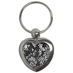 Flower Key Chains (heart)  by Brittlevirginclothing