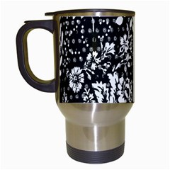 Flower Travel Mugs (white) by Brittlevirginclothing