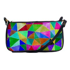 Triangles, Colorful Watercolor Art  Painting Shoulder Clutch Bags