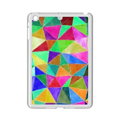 Triangles, Colorful Watercolor Art  Painting Ipad Mini 2 Enamel Coated Cases by picsaspassion