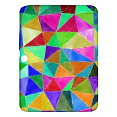 Triangles, Colorful Watercolor Art  Painting Samsung Galaxy Tab 3 (10 1 ) P5200 Hardshell Case  by picsaspassion