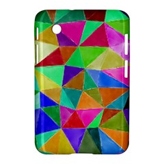 Triangles, Colorful Watercolor Art  Painting Samsung Galaxy Tab 2 (7 ) P3100 Hardshell Case  by picsaspassion
