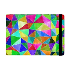 Triangles, Colorful Watercolor Art  Painting Ipad Mini 2 Flip Cases by picsaspassion