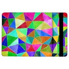 Triangles, Colorful Watercolor Art  Painting Ipad Air 2 Flip by picsaspassion