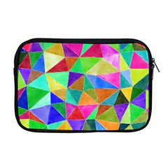 Triangles, Colorful Watercolor Art  Painting Apple Macbook Pro 17  Zipper Case by picsaspassion