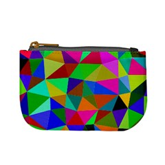 Colorful Triangles, Oil Painting Art Mini Coin Purses