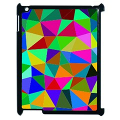 Colorful Triangles, Oil Painting Art Apple Ipad 2 Case (black) by picsaspassion