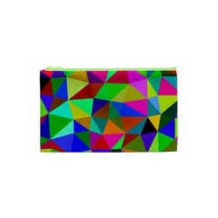 Colorful Triangles, Oil Painting Art Cosmetic Bag (xs)