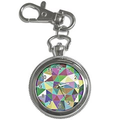 Colorful Triangles, Pencil Drawing Art Key Chain Watches by picsaspassion