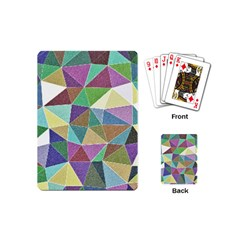 Colorful Triangles, Pencil Drawing Art Playing Cards (mini)  by picsaspassion