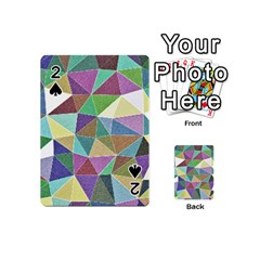 Colorful Triangles, Pencil Drawing Art Playing Cards 54 (mini)  by picsaspassion