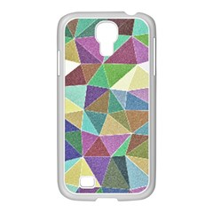 Colorful Triangles, Pencil Drawing Art Samsung Galaxy S4 I9500/ I9505 Case (white)