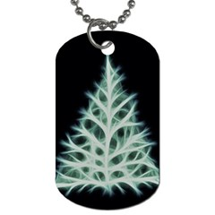 Christmas Fir, Green And Black Color Dog Tag (one Side)