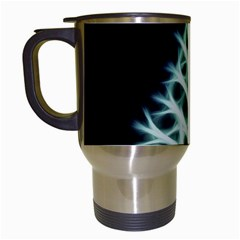 Christmas Fir, Green And Black Color Travel Mugs (white)