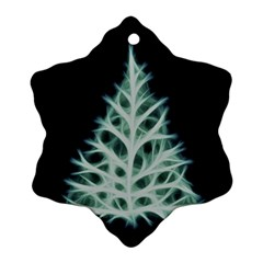 Christmas Fir, Green And Black Color Ornament (snowflake)  by picsaspassion