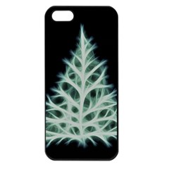 Christmas Fir, Green And Black Color Apple Iphone 5 Seamless Case (black)