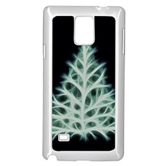 Christmas Fir, Green And Black Color Samsung Galaxy Note 4 Case (white)