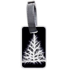 Christmas Fir, Black And White Luggage Tags (one Side)  by picsaspassion