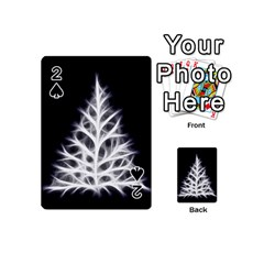 Christmas Fir, Black And White Playing Cards 54 (mini)