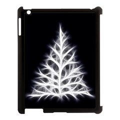 Christmas Fir, Black And White Apple Ipad 3/4 Case (black)
