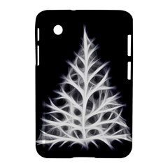 Christmas Fir, Black And White Samsung Galaxy Tab 2 (7 ) P3100 Hardshell Case  by picsaspassion