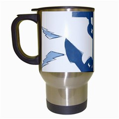 Blue Anchor,  Aquarel Painting Art Travel Mugs (white) by picsaspassion